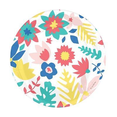 Tropical Floral Plates
