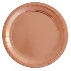 Rose Gold Foil Plates