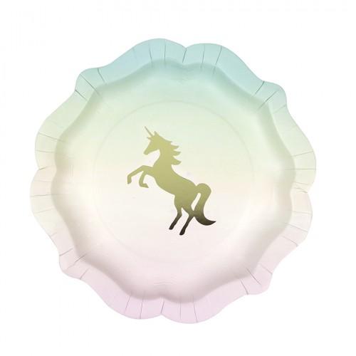 We Heart Unicorn Pastel Plates