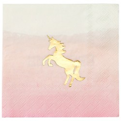 We Heart Unicorn Pastel Napkins