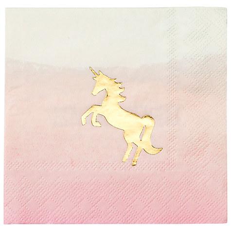 We Heart Unicorn Pastel Napkins