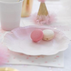 We Heart Pink Ombre/Gold Plates