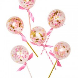 Pink Shimmer Balloon Pops