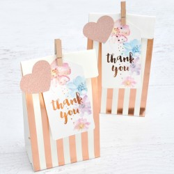 Rose Gold Stripes / Spots Treat Bags