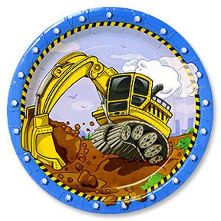 Construction Dessert Plates